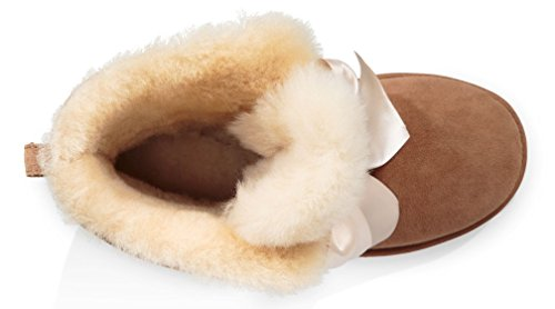 Del Gita Ugg Bow Women Mini Del Arco Marrone Le Ugg Brown Donne Caricamento Boot Sistema Gita Mini wgSnxqOR