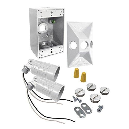 Raco 5818-6 Rectangular Box & Light Kit - White
