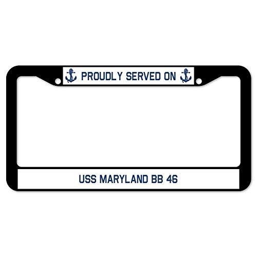 Yohoba Proudly Served On USS Maryland Bb 46 License Plate Frame 12