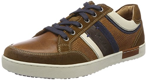 Australian Herren Mellow Leather Sneaker Braun (Tan-blue-white)