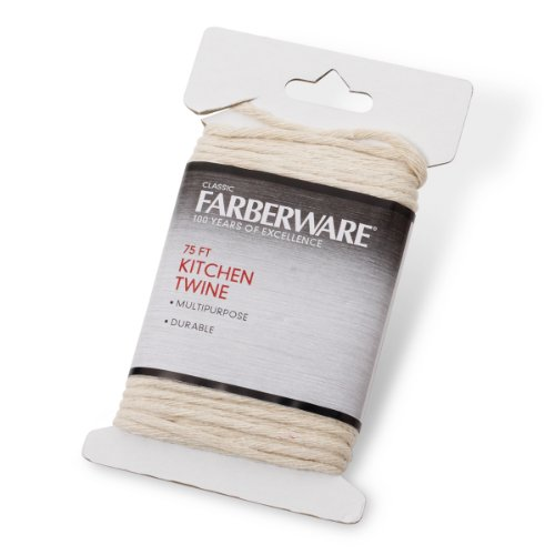 Farberware 5081722 Classic Kitchen Twine, 75-Feet, Small, White