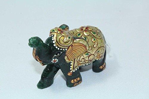 Rajasthan Gems Natural Jade gemstone Elephant Figure Pain...