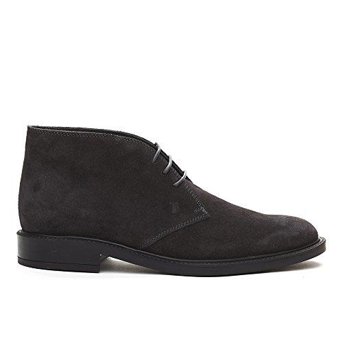 Tods Hombres Suede Chukka Desert Botas Zapatos Gris Carbón
