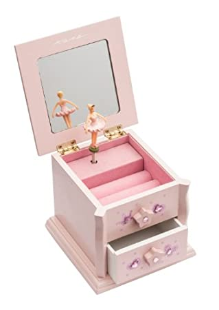 Pink Small Ballerina Wooden Music Jewellery Box Christmas Birthday