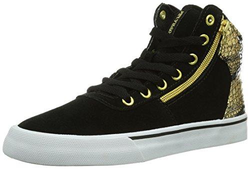 Supra WOMEN-CUTTLER Damen Hohe Sneakers Schwarz (BLACK/GOLD - WHITE   BKG)