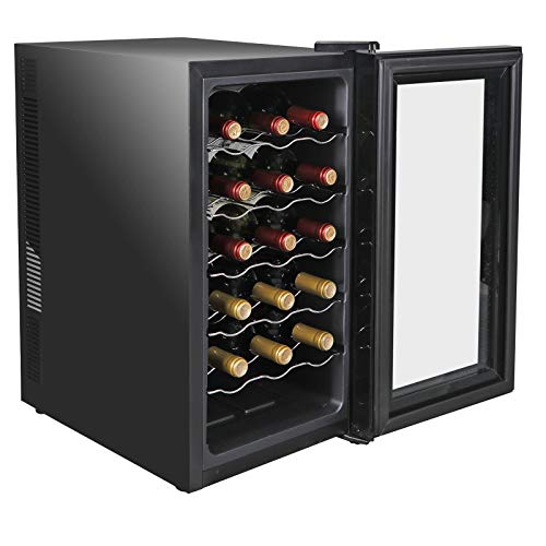 lunanice 18 Bottles Wine Cooler Refrigerator Air-tight Seal Quiet Temperature Control by lunanice (Image #7)