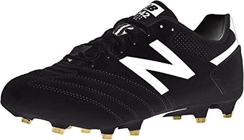 New Balance Men's 442 Team FG V1 Classic Soccer Shoe, Black/White, 7 D US