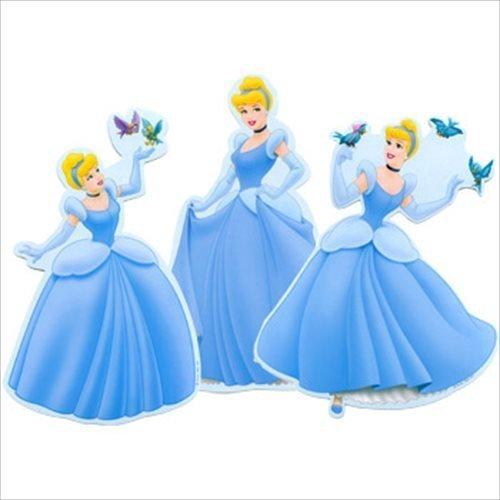 Cinderella 'Dreamland' Wall Decorations (3ct) -
