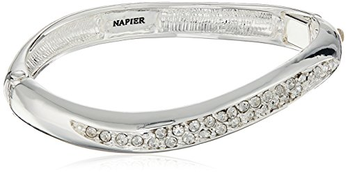- Napier Women's Crystal Hinge Bangle Bracelet