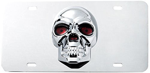 (Pilot Automotive LP-205 Stainless Steel 3-D Skull License Plate (ABS Plastic Decal))