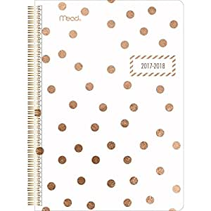 "Mead Academic Weekly / Monthly Planner, July 2017 - June 2018, 5-1/2"" x 8-1/2"", Gold & Bold, [Design Will Vary] (CAW40825)"