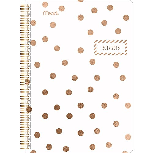 "Mead Academic Weekly / Monthly Planner, July 2017 - June 2018, 5-1/2"" x 8-1/2"", Gold & Bold, Design Will Vary (CAW40825)"
