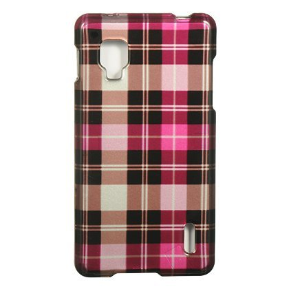 Dream Wireless CALGLS970HPCK Slim and Stylish Design Case for the LG Optimus G (Sprint)/LS970 - Retail Packaging - Hot Pink Checker (Lg Optimus Sprint Case compare prices)