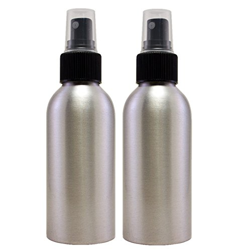 Greenhealth Aluminum Refillable Spray Bottle Mister - 4 Oz (2 (Refillable Aluminum Compact)
