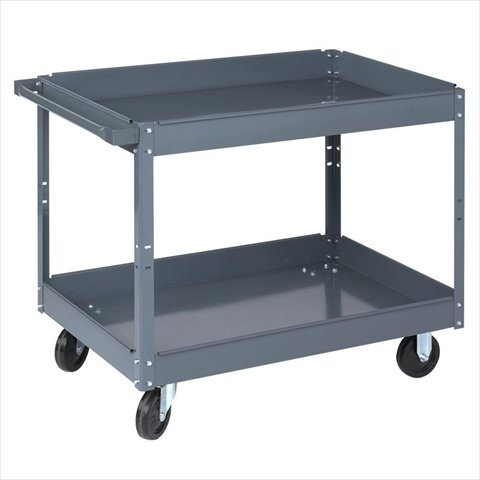 Wesco Industrial Products 270168 Steel Service Cart, 2 Tray, 500-lb. Load Capacity, 39 L x 24 W x 32 H