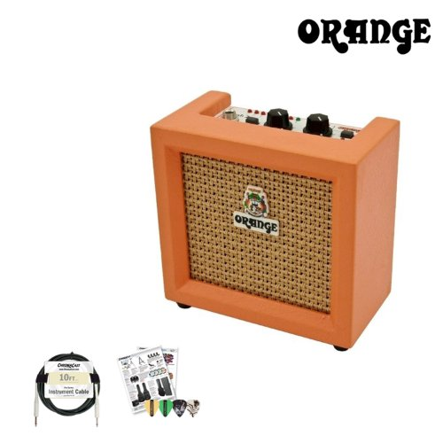 Orange Amplifiers Micro Crush PiX 3 Watt 9-Volt Mini Amp with Accessories by GoDpsMusic