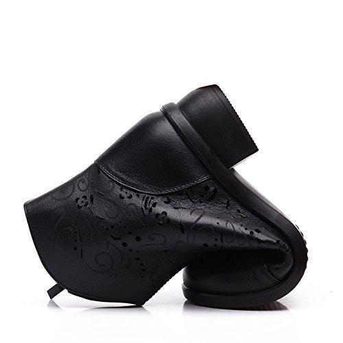 Ahuecar damas y botas frío/Mamá elegante y zapatos de fondo suave/Mayores sandalias en el verano A