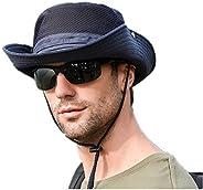 Sun Hat Wide Brim Bucket Mesh Boonie Cap Outdoor Fishing Hats UV Protection