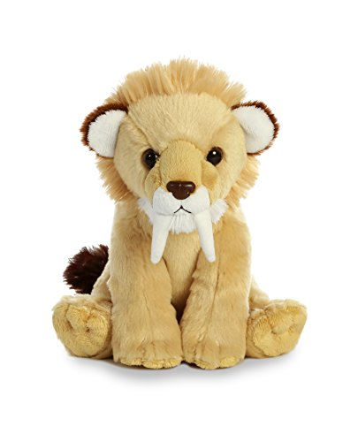 (Aurora World Smilodon Saber Toothed Cat Plush, Brown, Small)