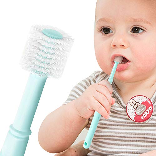 Toddler Toothbrush, 360 All Direction Baby Manual Toothbrush, Soft Bristles Massage Gums, for 3 month and up