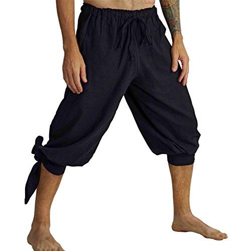 'Buccaneer' Pirate Costume Pants, Renaissance Clothing - Black