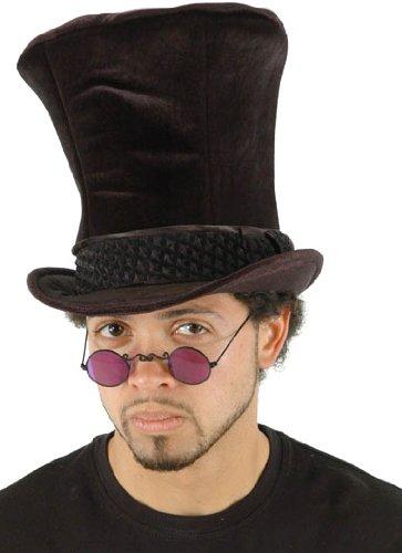 Elope Shiny Black Top Hat (Top Hats Fancy Dress)