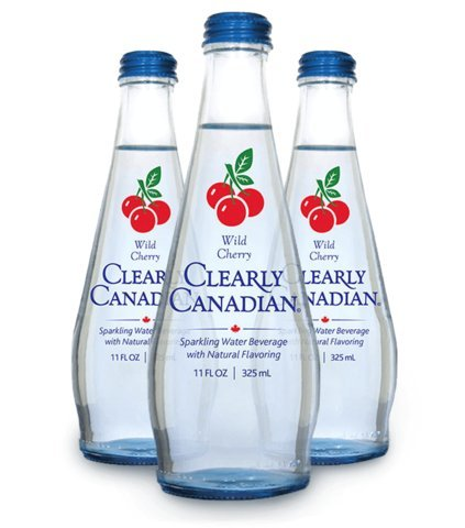 Clearly Canadian Sparkling Water Beverage (Wild Cherry, 12 Pack) by Clearly Canadian