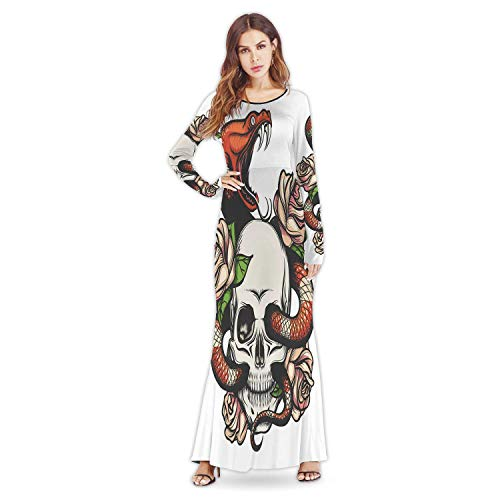 C COABALLA Abstract Colorful Pattern Backdrop New Fall Winter Party Lady Women Dresses,a13609for Wedding,M