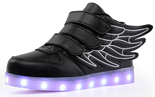 Note: 1.Switch hidden inside shoes, it nearby the USB port, you can press it to fix the shoe on one color, or flashing. 2.When charging, the light will automatically turn off until charging is completed. 3.Do not put the sneakers into water, ...