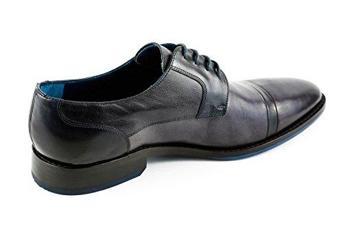 Melvin & Hamilton MH15-924, Chaussures de Ville à Lacets pour Homme Bleu Bleu