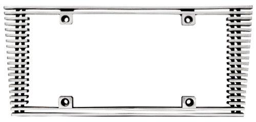 CWL-41HC 4mm Polished Aluminum Billet Sloped Edge License Plate Frame IPCW