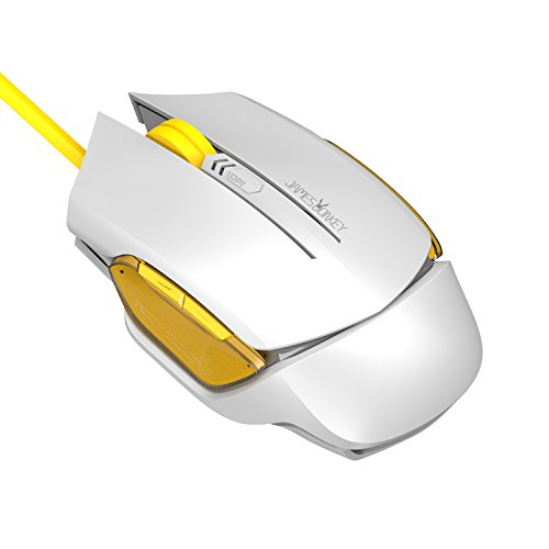 James Donkey USB Wired Gaming Mouse for PC with 3 Levels 2000 DPI, 6 Buttons and Side Control Micro Switches (White)