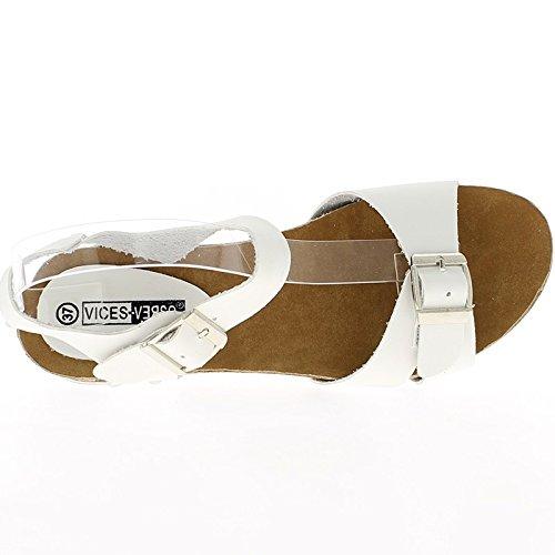 Cuneo comfort nero sandali tacco 4,5 cm e spesse suole