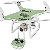 Skin For DJI Phantom 4 Quadcopter Drone – Combat Wombat | MightySkins Protective, Durable, and Unique Vinyl Decal wrap cover | Easy To Apply, Remove, and Change Styles | Made in the USA