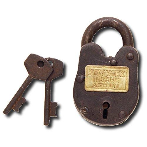 NY Insane Asylum Padlock w/Keys -