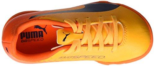 Puma Evospeed 17.5 It Jr, Botas de Fútbol Unisex Niños Amarillo (Ultra Yellow-peacoat-orange Clown Fish 03)
