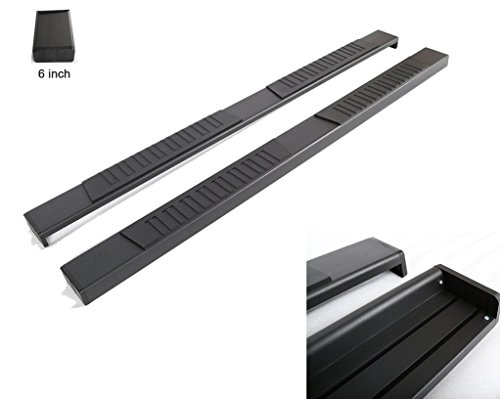 RAFTUDRIVE 3 in Round S/S Running Boards Fit 07-16 Silverado/Sierra 1500/2500HD/3500HD (Excluding Diesel Mode) Ext/Double Cab (not Crew) With 2 Full Size Front Doors and 2 Half Size Rear Doors