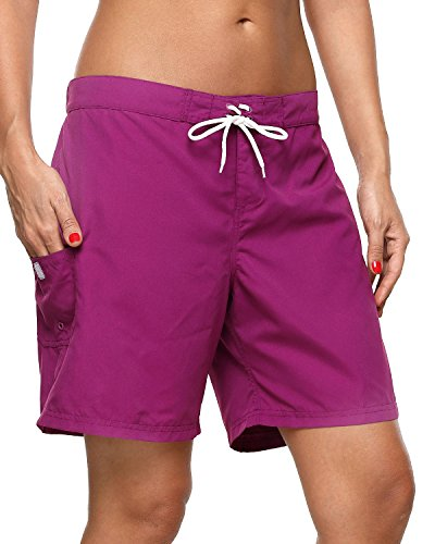 (Sociala Board Swim Shorts for Women Bathing Suit Bottoms Surf Shorts Boardshorts )
