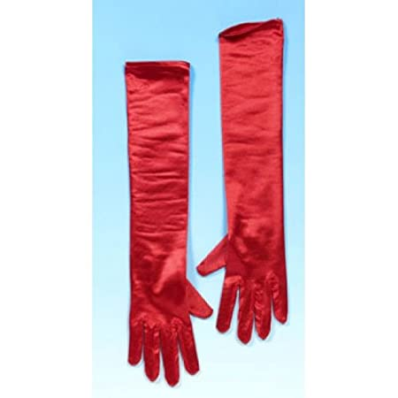 3 month red dress gloves