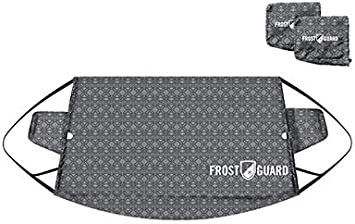 Ice and Frost Premium Winter Windshield Snow Cover with Security Panel and Wiper Cover Standard, Baltic Slate Protects from Snow FrostGuard