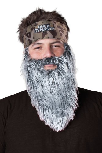 InCharacter Duck Dynasty Men's Phil Plush Accessory Kit, Silver, One Size by Fun World