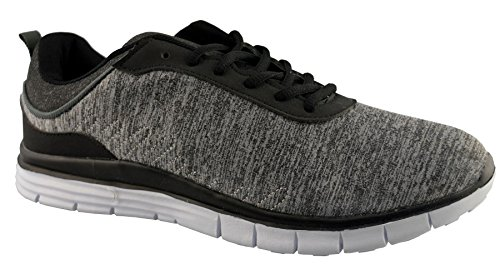Chaussures De Course En Cuir Synthétique Air Tech Mens 12 Gris