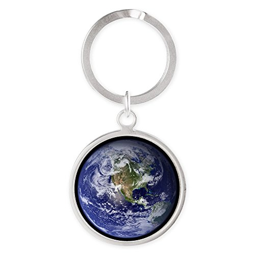 Price comparison product image Round Keychain Planet Earth The World
