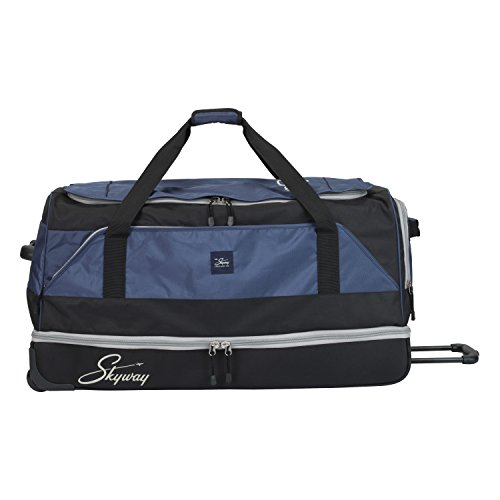 Skyway Sodo 34-inch Drop-Bottom Rolling Duffel, Navy Blue ()