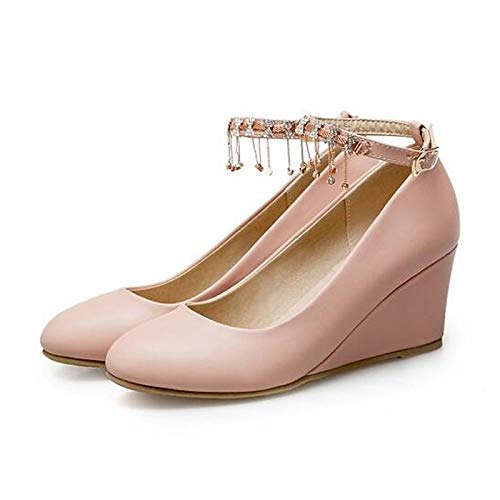Heel Spring QOIQNLSN Wedge Heels Pink Shoes Black Comfort Polyurethane Pu White Black Women'S 88PwI