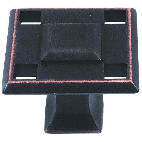 Atlas Homewares Craftsman Knob - Atlas Homewares - Modern Craftsman 1-3/8 in. Venetian Bronze Cabinet Knob - Venetian Bronze