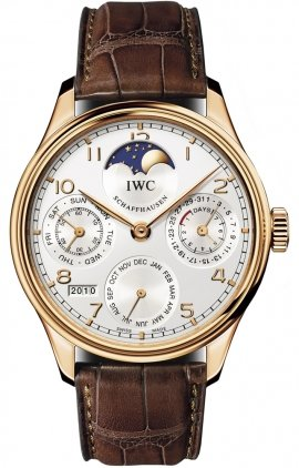 IWC Portuguese Perpetual Calendar Moonphase Automatic 18 kt Rose Gold Mens Watch 5023-06