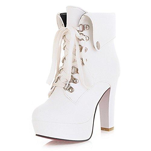 Fashion Heel - Botas mujer blanco