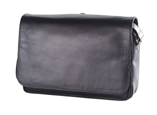 (Clava Leather Laptop Mailbag / Sling (Vachetta Black))