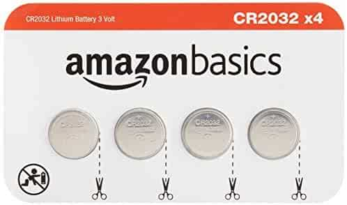 AmazonBasics CR2032 3 Volt Lithium Coin Cell Battery - 4 Pack